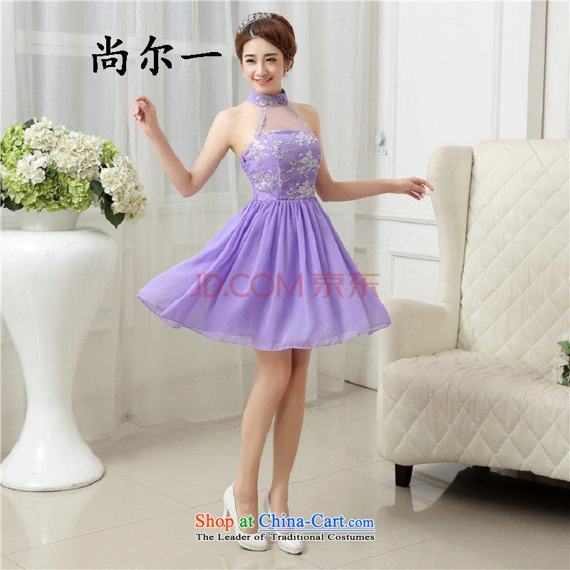Yet, a new Hang history 2015 Graphics thin purple short) bridesmaid services Korean bridesmaid dress 5291 will light violet