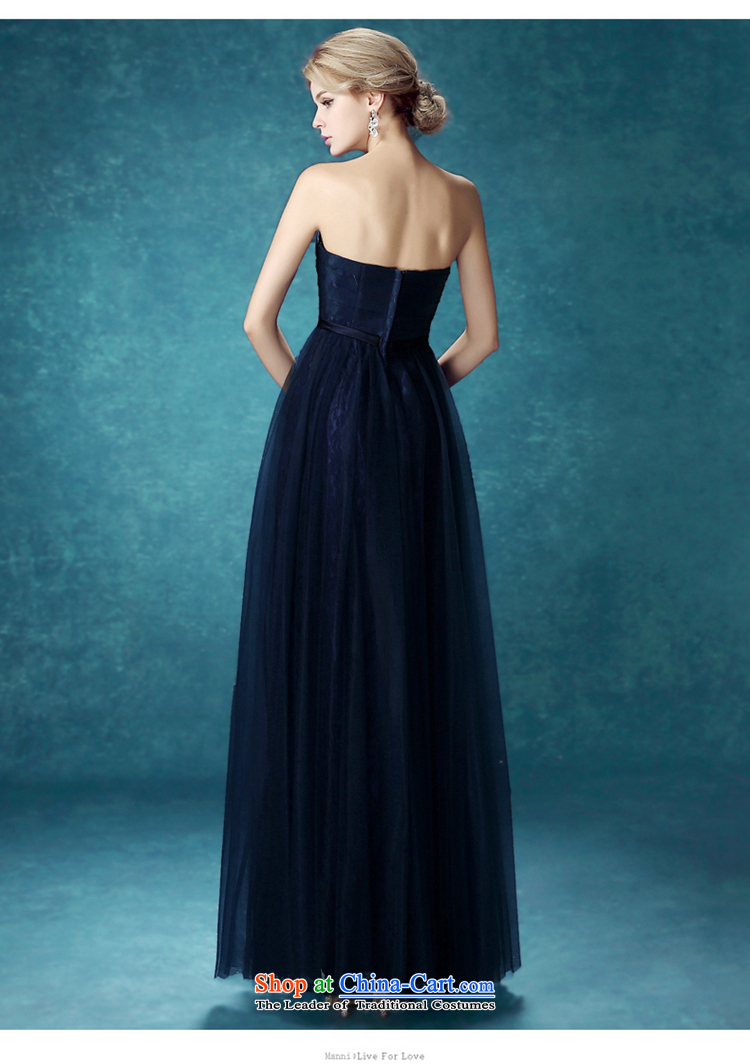 Time Syrian navy blue dress with the new 2015 chest stylish bride ...