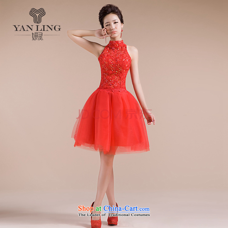 Charlene Choi Spirit New Hang history 2015 engraving pattern on chip decor elegant sexy back small dress LF158 RED?L