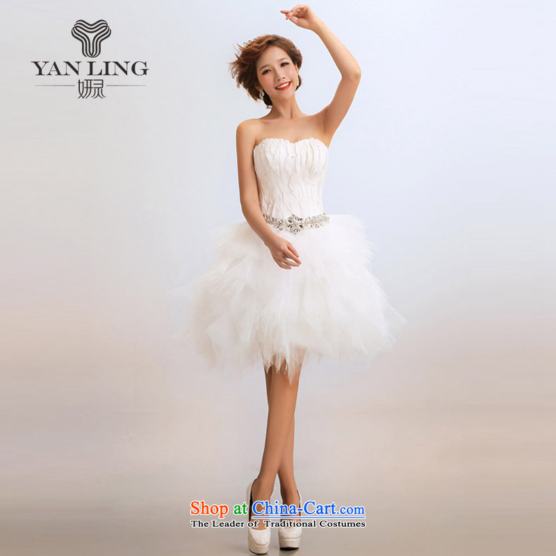 Charlene Choi Ling 2015 new stylish stars of the same short of marriages wedding dresses show services under the auspices of White?XXL