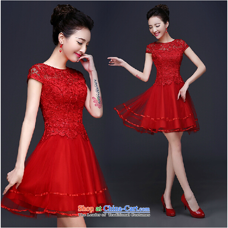 The bride services 2015 Summer bows new marriages Chun red) Improved stylish cheongsam dress Sau San red tailored please contact Customer Service