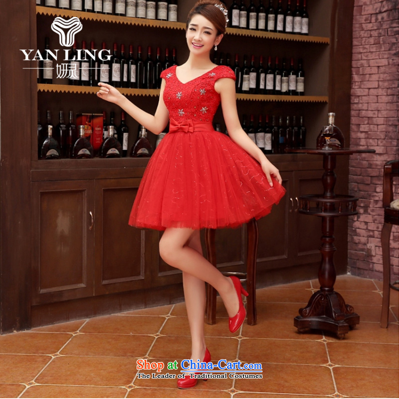 Charlene Choi Ling marriage wedding dresses short) equipped bridesmaid to bind with short of marriage evening dresses marriage small dress?L