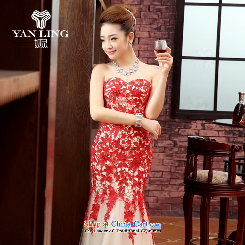 Charlene Choi Ling marriage wedding dresses short) equipped bridesmaid marriage with long evening dresses marriage small dress RED?M