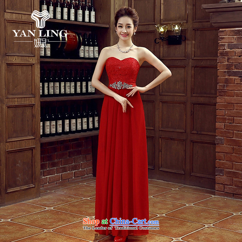 Charlene Choi Spirit of Red bride bridesmaid wedding dress marriage bows services wedding night wear long bride with new 2015?L