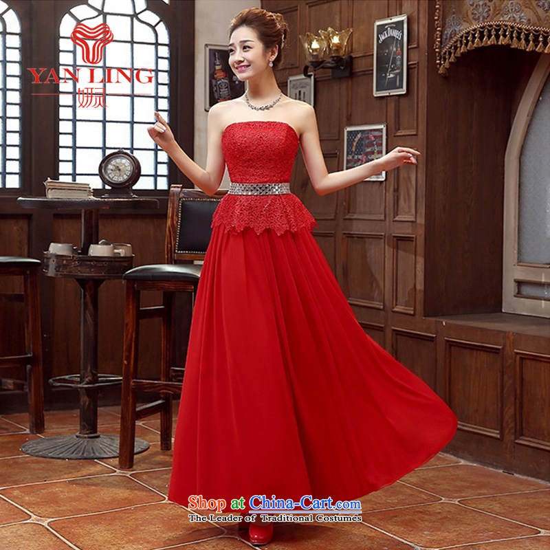 Charlene Choi Ling long gown bride bridesmaid wedding dress marriage bows services wedding night wear long bride with new RED?M 2015