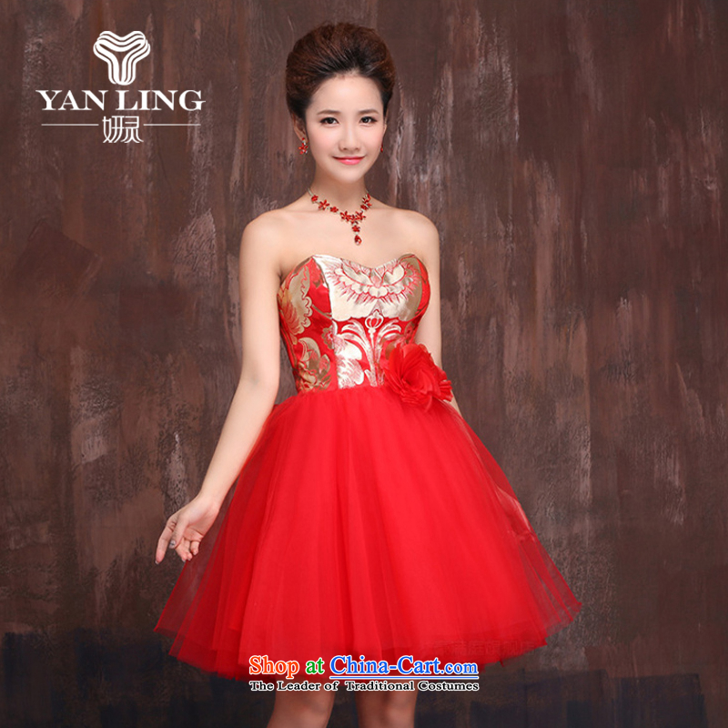 Charlene Choi Ling bridesmaid mission dress saika evening dresses skirts sister 2015 New Wedding Dress Short of bridesmaid X0001 XL