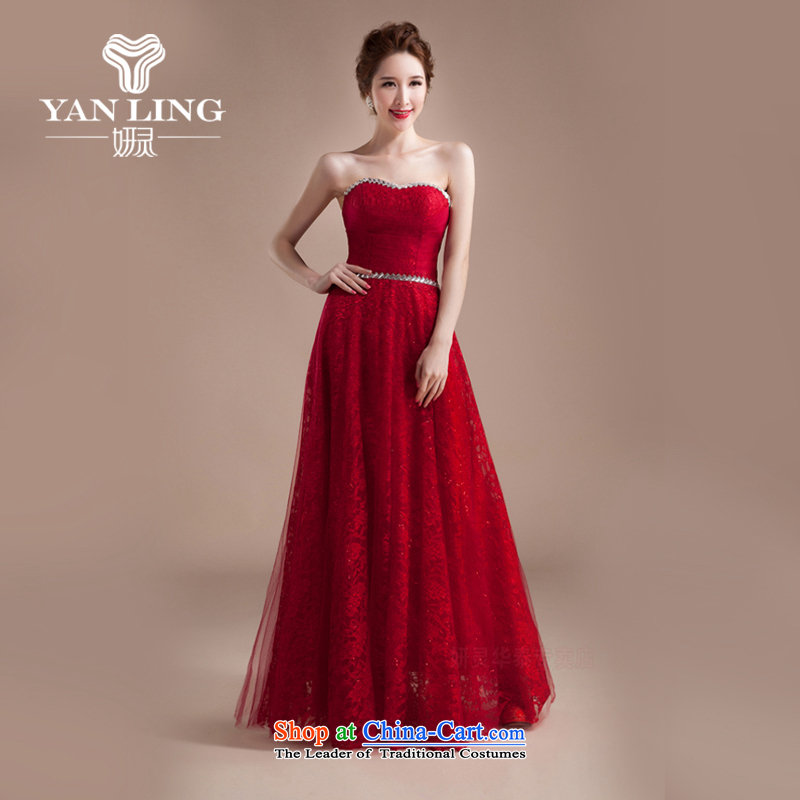 Charlene Choi Ling marriage wedding dresses short) equipped bridesmaid to bind with short of marriage evening dresses marriage small dress CLF1837 XL