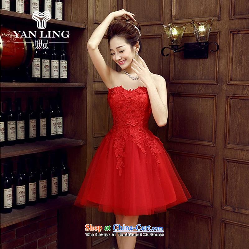 Charlene Choi Ling bride dress bows services new stylish wedding dresses red small female Dress Short, banquet spring and summer?M
