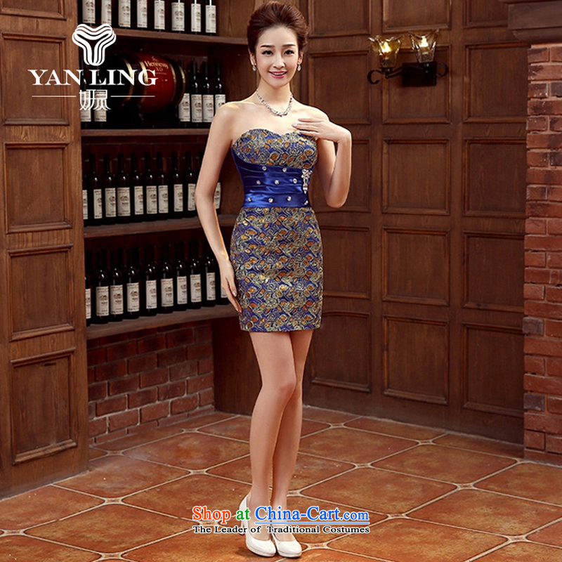 Charlene Choi Ling bride dress marriage services new marriage bows stylish small red dress female Dress Short, banquet spring and summer?XXL