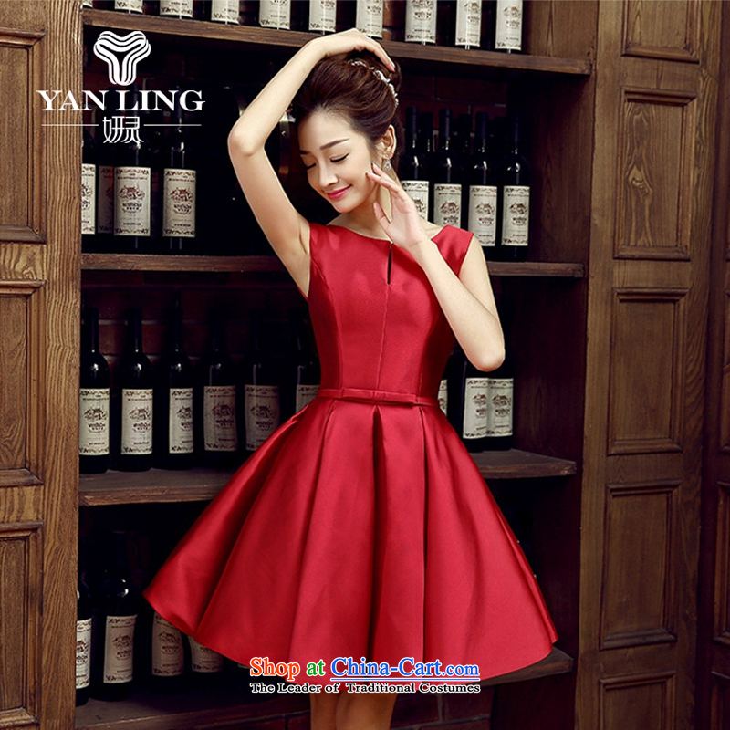 Charlene Choi Ling bride dress marriage services new marriage bows stylish small red dress female Dress Short, banquet spring and summer?M