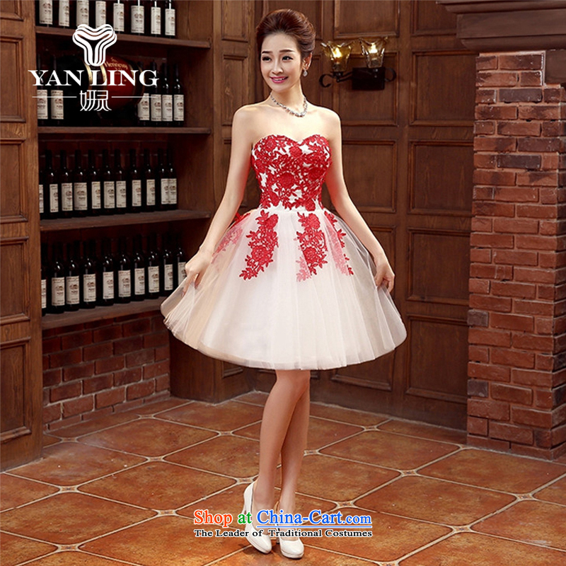Charlene Choi Ling marriages bows to the new Marriage and stylish small red dress Female dress short of spring and summer banquet?L