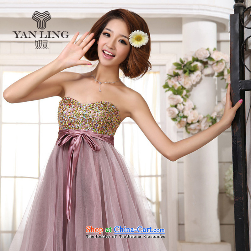 Charlene Choi Ling bows service of marriages evening dresses spring bridesmaid pregnant women dress Wedding 2015 new Korean dress?XXL