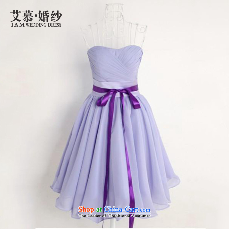 The?2015 new HIV wedding accompanied with Li Siu Ro bridesmaid skirt sister skirt short of bows service bridal dresses?S
