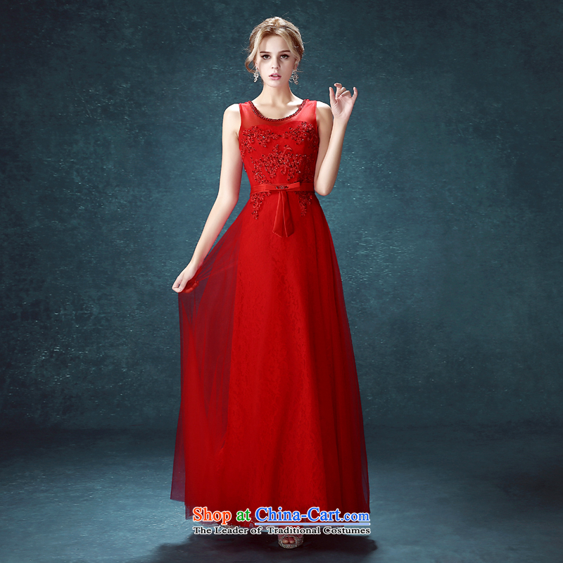 Connie followed service every marriage shoulder straps Dress Suit 2015 Summer New Red long thin LIFU011 married graphics red?XXL