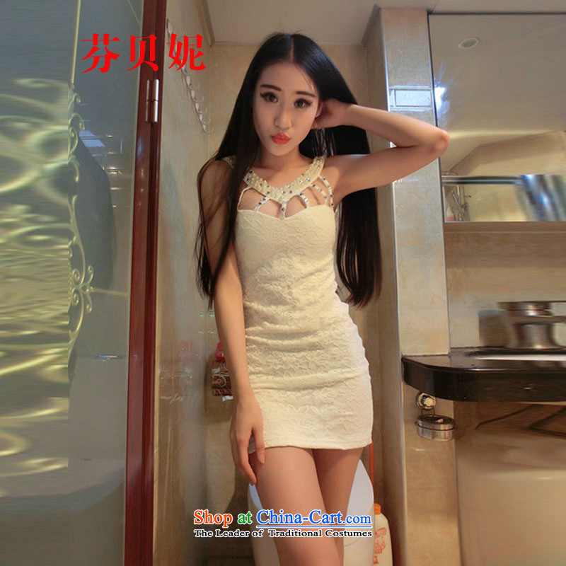 Leung Pui-process nails Connie 2015 bead dress?code are white L9923 dress