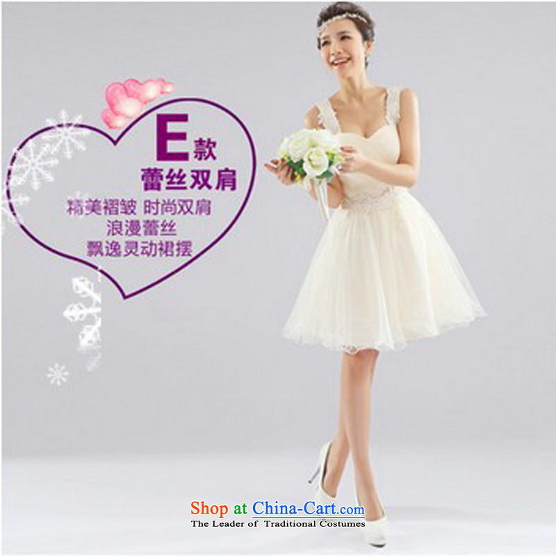 Charlene Choi Ling bridesmaid dress 2015 new sister bridesmaid mission and chest lace bridesmaid service, bridal dresses shoulder dress?E XXL