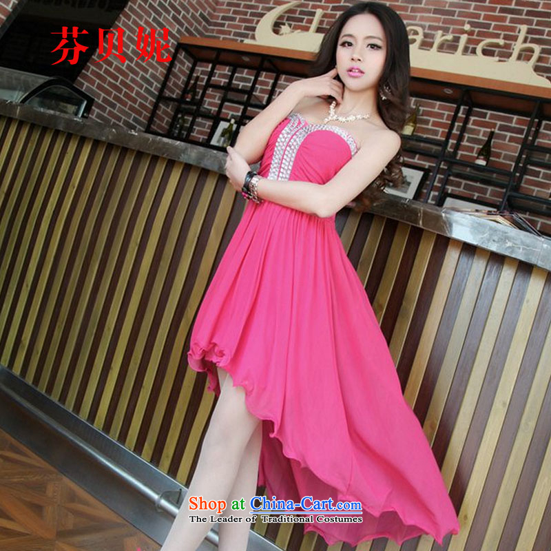 Leung Pui Connie 2015 new name would be made manually set joo does not chest rules dress skirt dresses in red