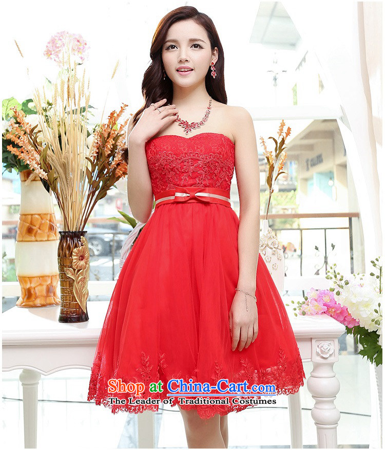 Upscale dress wiping the chest dresses dress Summer 2015 new wrapped chest lace bon bon skirt bridesmaid princess skirt banquet wedding dress red XL Photo, prices, brand platters! The elections are supplied in the national character of distribution, so action, buy now enjoy more preferential! As soon as possible.