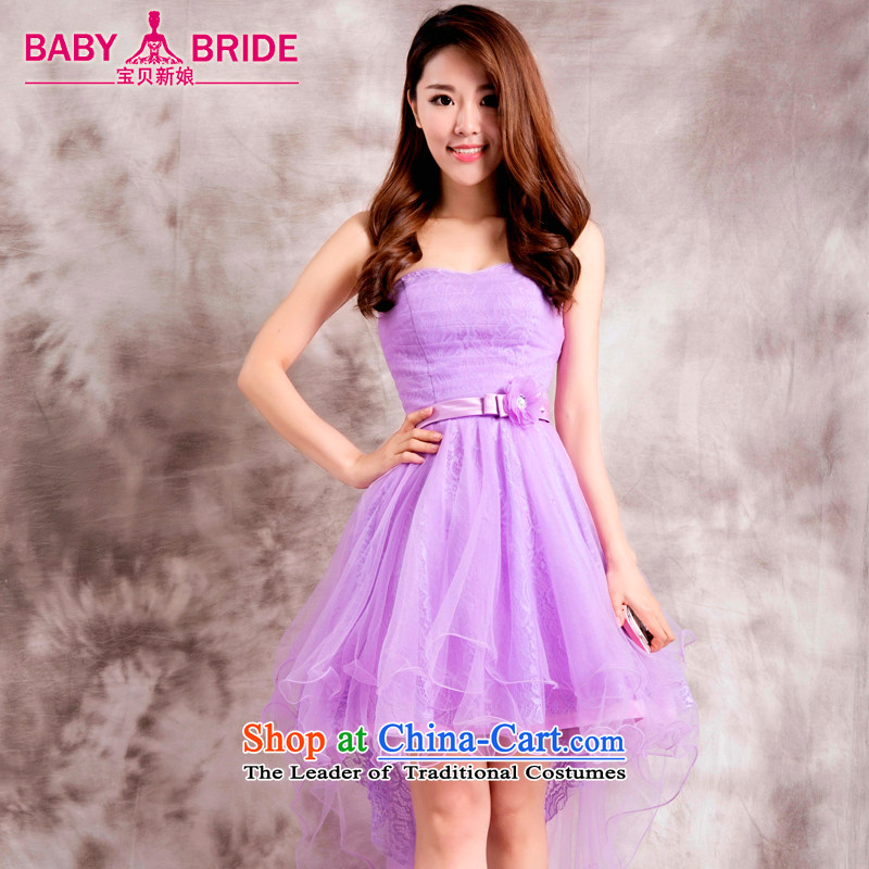 Bridesmaid dress 2015 new bridesmaid sister skirt short of services and banquet dinner dress small chest dress summer A XXL