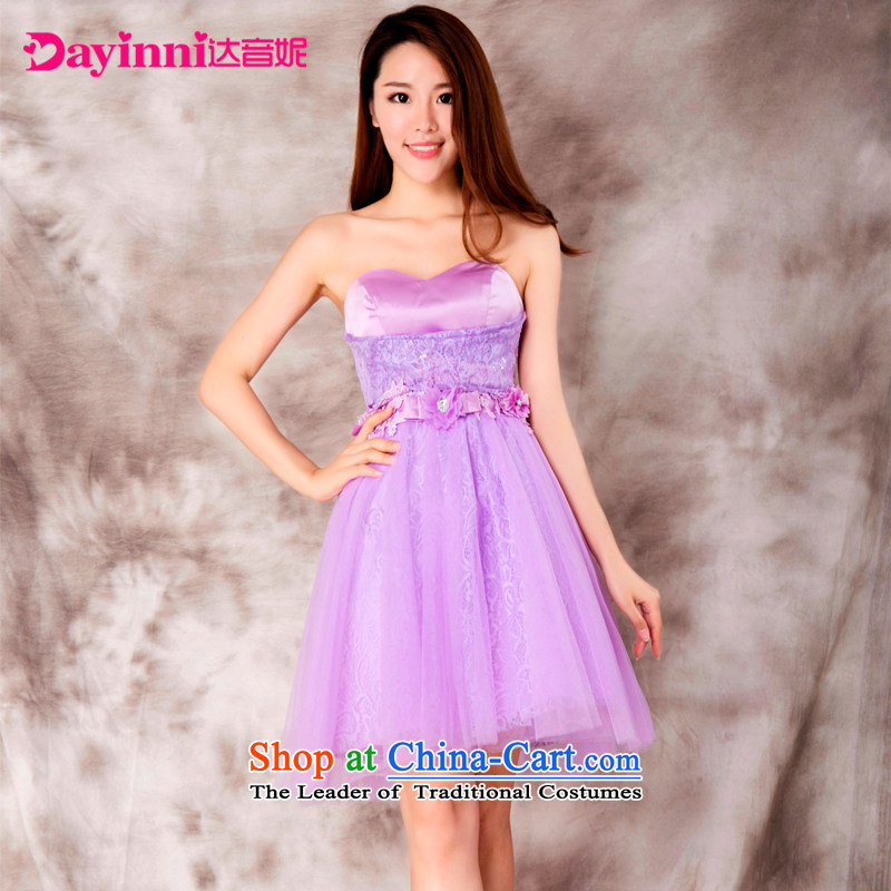 Bridesmaid dress 2015 new bridesmaid sister skirt short of services and banquet dinner dress small chest dress summer?D XXL