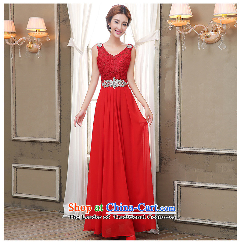 Pure Love bamboo yarn 2015 New Service Bridal Fashion red bows wedding dress spring long evening dresses bridesmaid services summer Sau San Female Red sexy stylish聽M