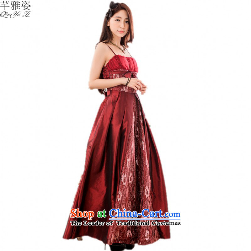 C.o.d. thick mm evening dresses 2015 new europe elegant OL long skirt xl lace pattern to drag hosted a dress code are about mauve skirt 90-120 catty