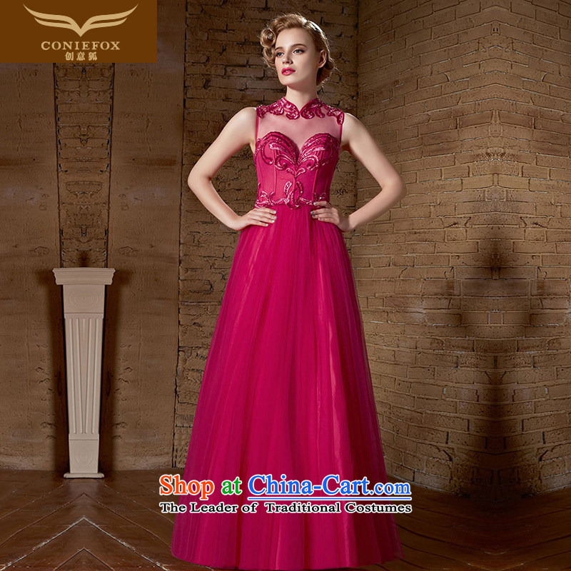 The kitsune elegant evening dress creative long red wedding dresses in the marriage bows service bridal dresses wedding bridesmaid welcome to align the service long skirt 30889 Red�XL