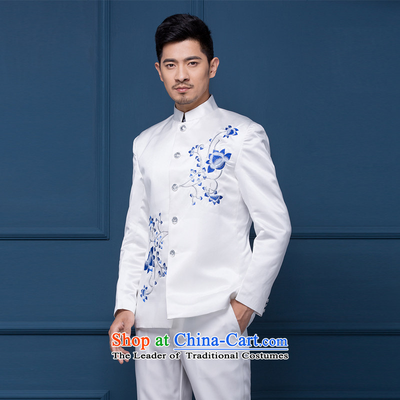 Pure Love bamboo yarn wedding dresses men's dress wedding photography dress China wind moderator dress male Chinese tunic will Men Arena porcelain Chinese White small mackerel 190(XXXL)200 around 922.747, pure love bamboo yarn , , , shopping on the Internet