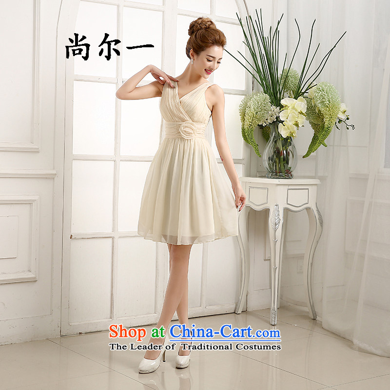 Yet, a new bridesmaid mission Dress Short, banquet evening dresses and sisters skirt bridesmaid services small dress 6408 champagne color are code