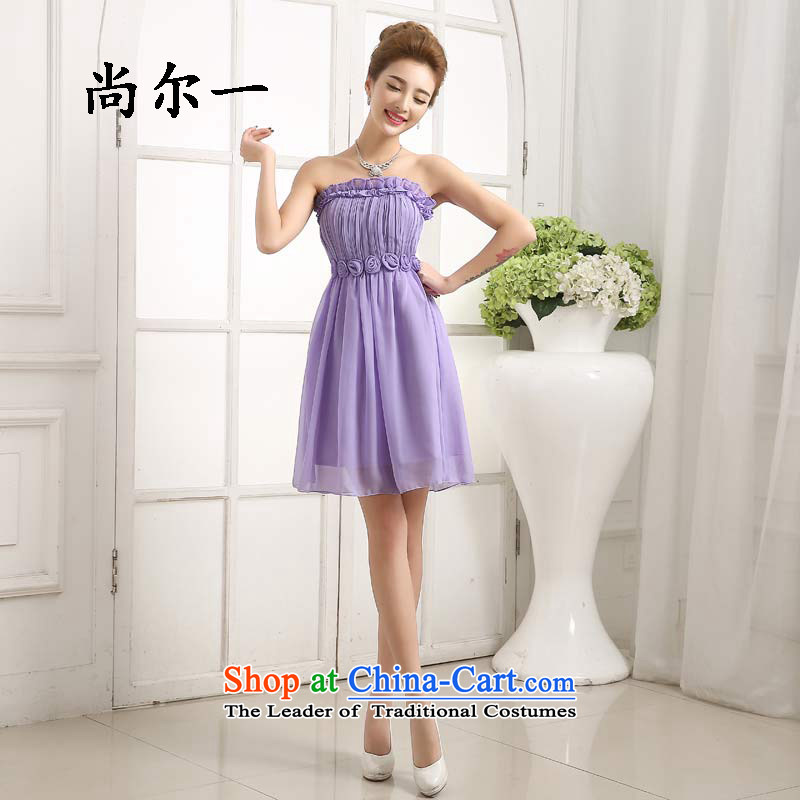 Yet a new summer bridesmaid dress bridesmaid sister skirt annual service will dress 6411 light purple are code