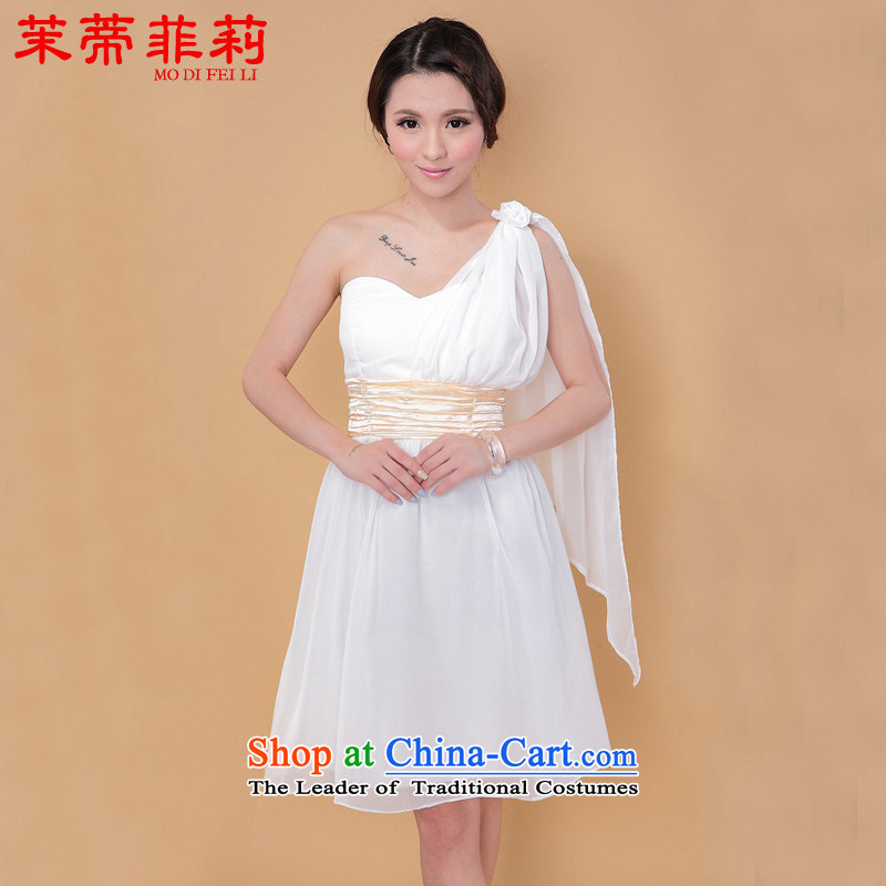 Energy Tifi Li?2015 new bridesmaid Dress Short of mission bows chiffon dress multi-color in a variety of form factors are white dress code