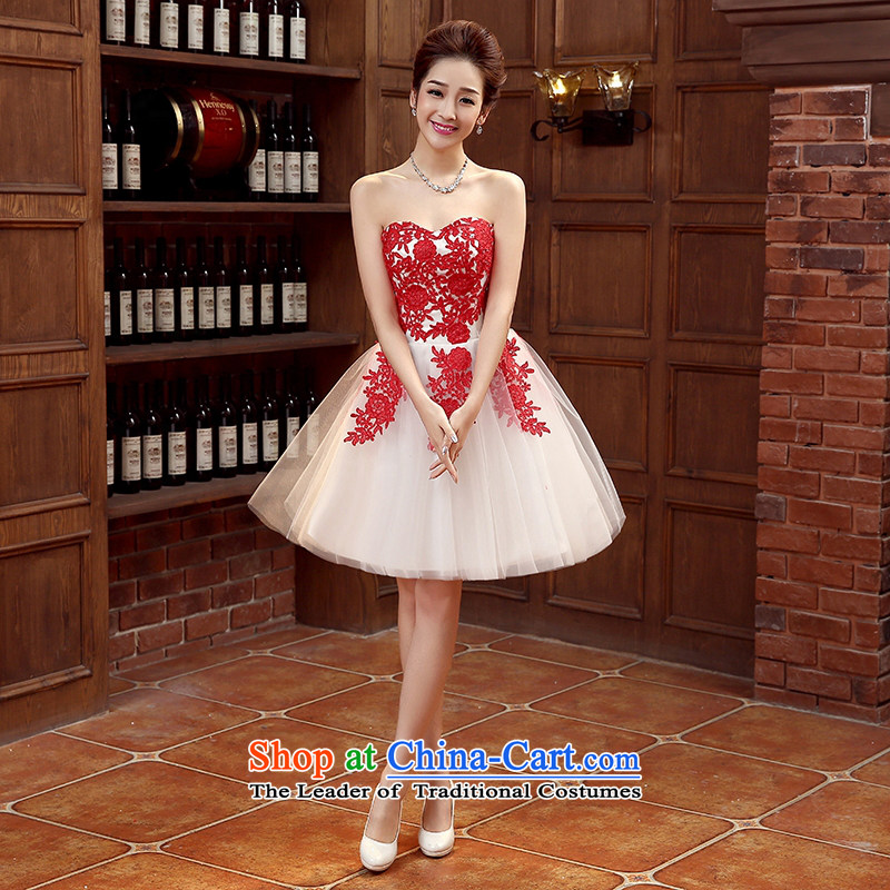 Dress Spring 2015 bride stylish bows service, evening dresses and chest banquet lace bridesmaid Services Mr Ronald Female Red tailored please contact Customer Service