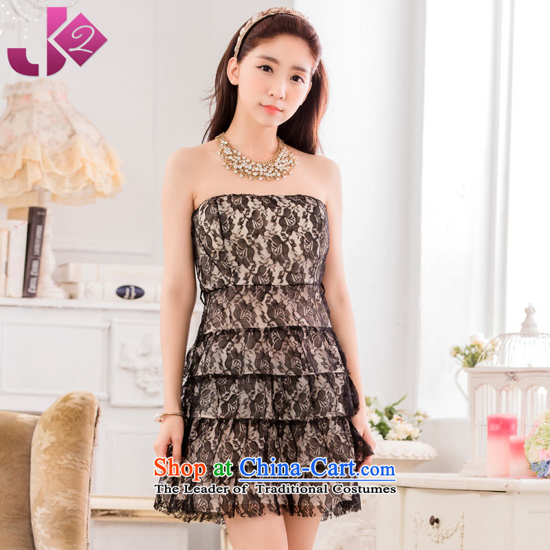 The new 2015 Jk2.yy lace bridesmaid skirts and sexy anointed chest show large dress suits women wear skirts are recommended for the apricot around 922.747 90