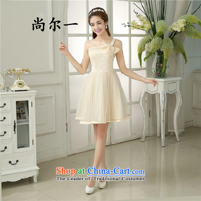 Yet, a service of bridesmaid 2015 new summer bridesmaid dresses and sisters in small dress bridesmaid skirt evening dress champagne color are Code 6506