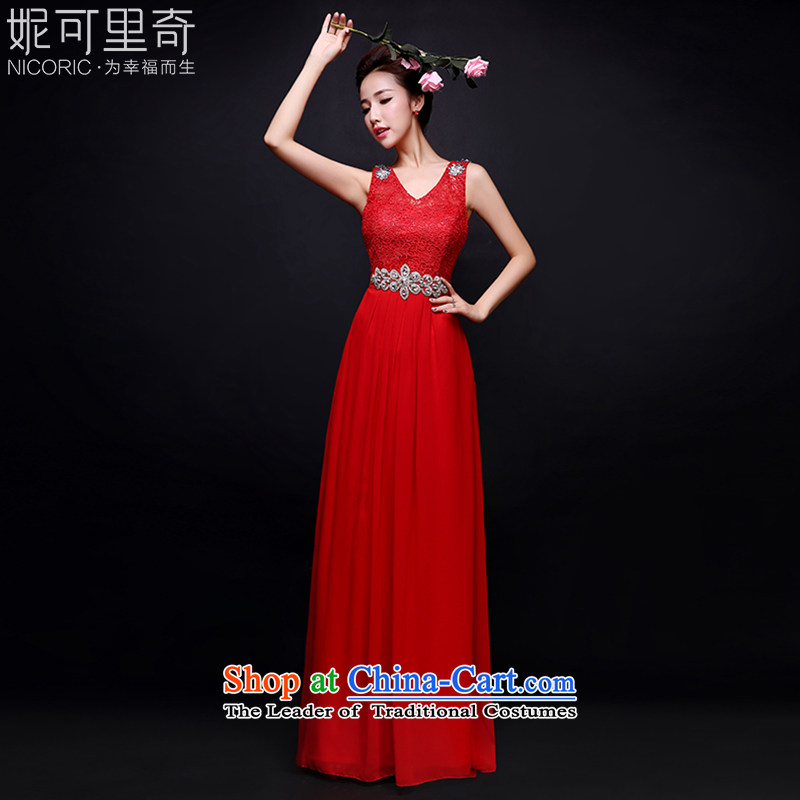 Toasting champagne bride services 2015 new winter stylish shoulders bride bows to the persons chairing the red dress champagne color bridesmaid Diamond Service Repair red advanced customization of $+30 5 day shipping