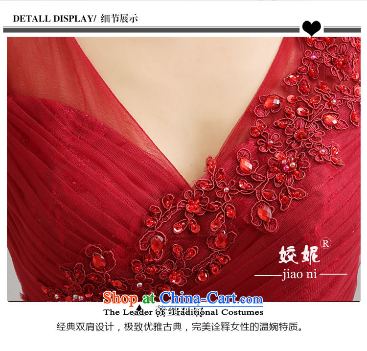Each Connie wine red reception banquet evening dresses 2015 Summer shoulders Sau San long stylish wedding dresses brides web services LF0016 drink wine red tailored does not allow for pictures, prices, brand platters! The elections are supplied in the national character of distribution, so action, buy now enjoy more preferential! As soon as possible.
