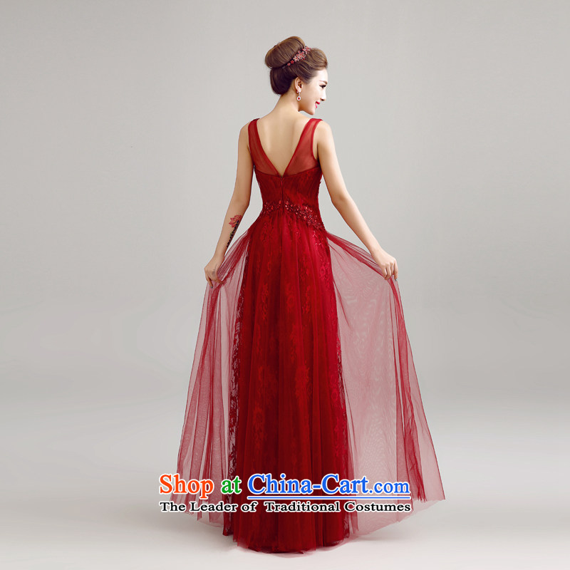 Each Connie wine red reception banquet evening dresses 2015 Summer shoulders Sau San long stylish wedding dresses brides web services LF0016 drink wine red tailored, does not allow for every JIAONI stephanie () , , , shopping on the Internet