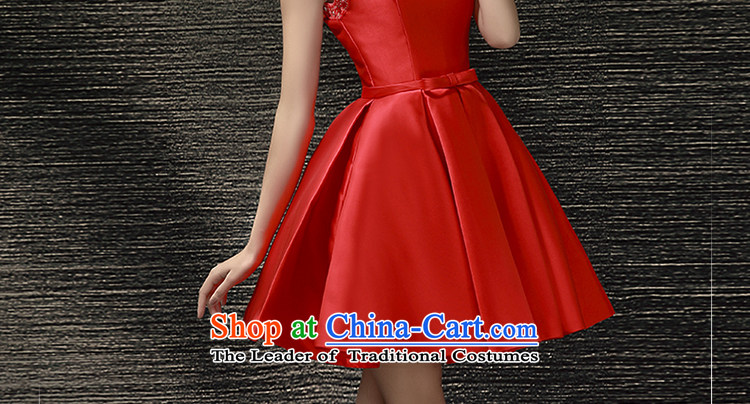 The Holy her wedding dresses Summer 2015 new bride Wedding Dress Short of shoulders red dress uniform dress bows RED聽M picture, prices, brand platters! The elections are supplied in the national character of distribution, so action, buy now enjoy more preferential! As soon as possible.