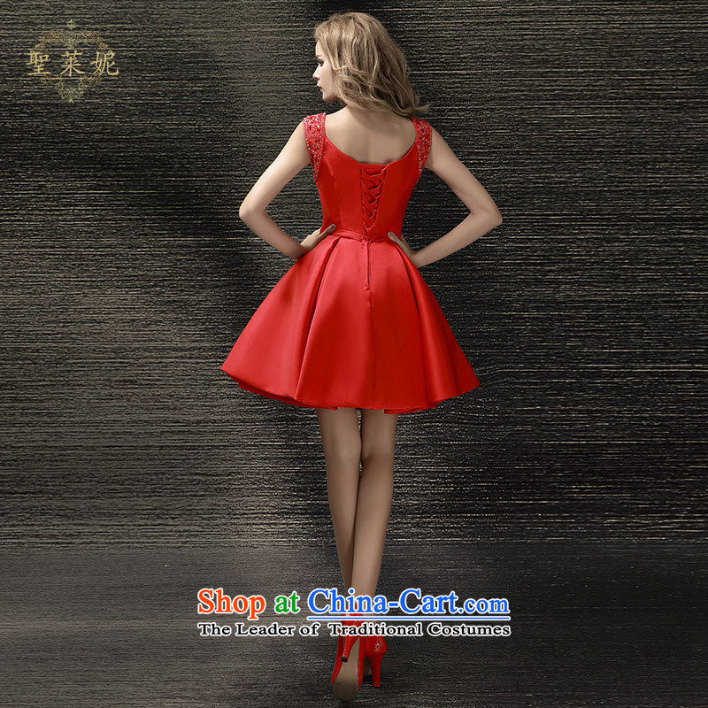 The Holy her wedding dresses Summer 2015 new bride Wedding Dress Short of shoulders red dress uniform dress bows REDM holy her sheng lai ni) ( , , , shopping on the Internet