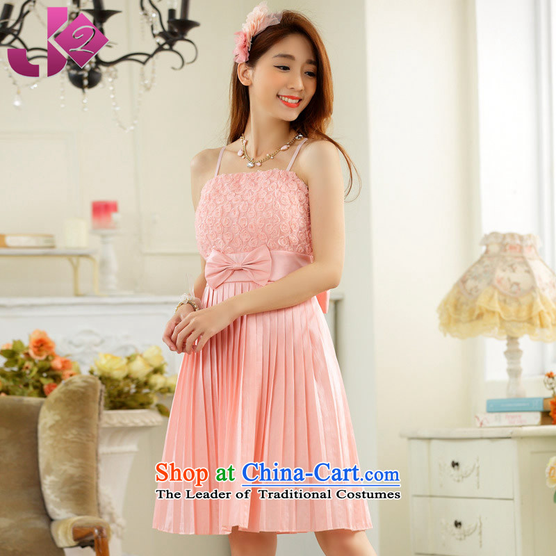 2015 new sisters JK2 skirt bridal dresses bridesmaid mission dance performances to wipe the chest straps evening dress pink, short code are recommended 100 around 922.747