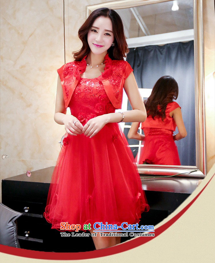 Upscale dress2015 Summer red bridal dresses dress strap small shawl two kits bon bon skirt lace princess skirt banquet wedding dress redL picture, prices, brand platters! The elections are supplied in the national character of distribution, so action, buy now enjoy more preferential! As soon as possible.