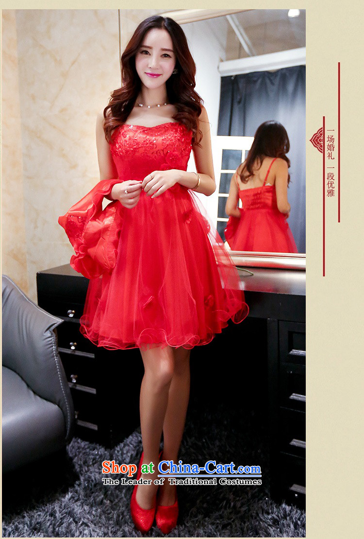 Upscale dress 2015 Summer red bridal dresses dress strap small shawl two kits bon bon skirt lace princess skirt banquet wedding dress red L picture, prices, brand platters! The elections are supplied in the national character of distribution, so action, buy now enjoy more preferential! As soon as possible.