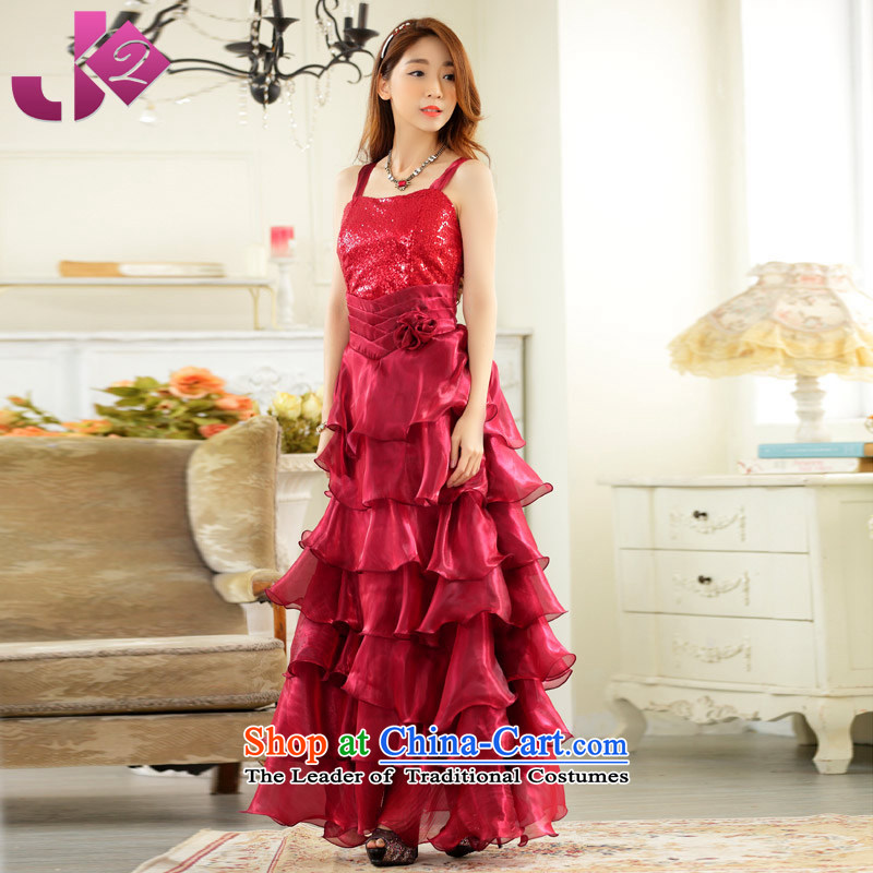 The new 2015 JK2 Wah Kwai married long gown presided over a drink at the annual session on large numbers of suspenders evening wine red. Both code around 922.747 recommended 100