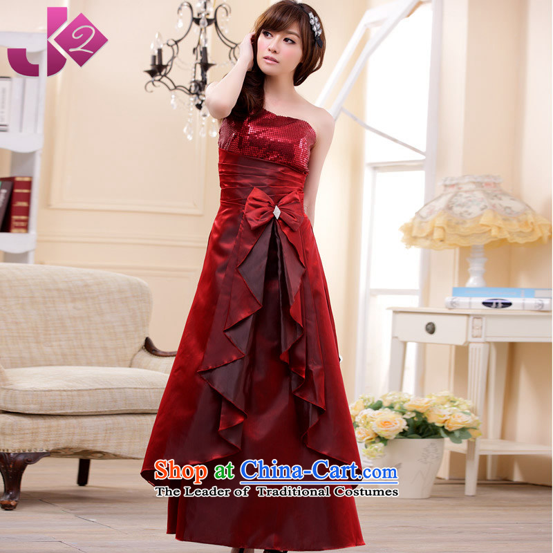 �Stylish aluminum foil gorgeous JK2 long evening banquet dresses and sexy shoulder the bride will serve both toasting champagne wine red code around 922.747 recommended 100