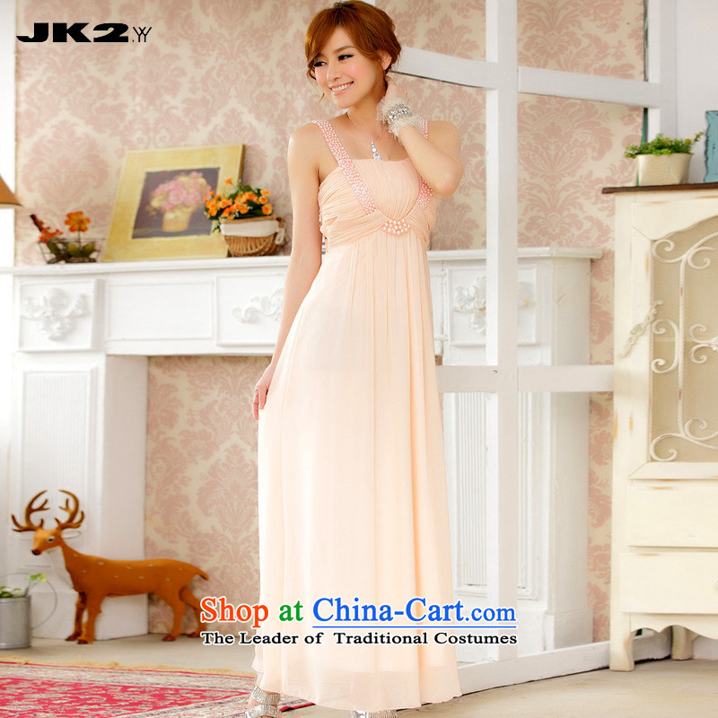 ?The lifting strap is     temperament Jk2.yy long staples pearl banquet dress manually chiffon evening dresses pink?XXXL around 922.747 recommendation 170