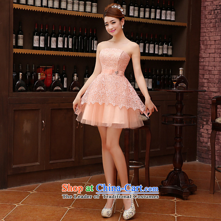 Time the聽new 2015 Syria Korean wiping the chest straps small dress sister bridesmaid service of married women serving raw pink toasting champagne evening dresses graduated dress bare pink聽XL Photo, prices, brand platters! The elections are supplied in the national character of distribution, so action, buy now enjoy more preferential! As soon as possible.