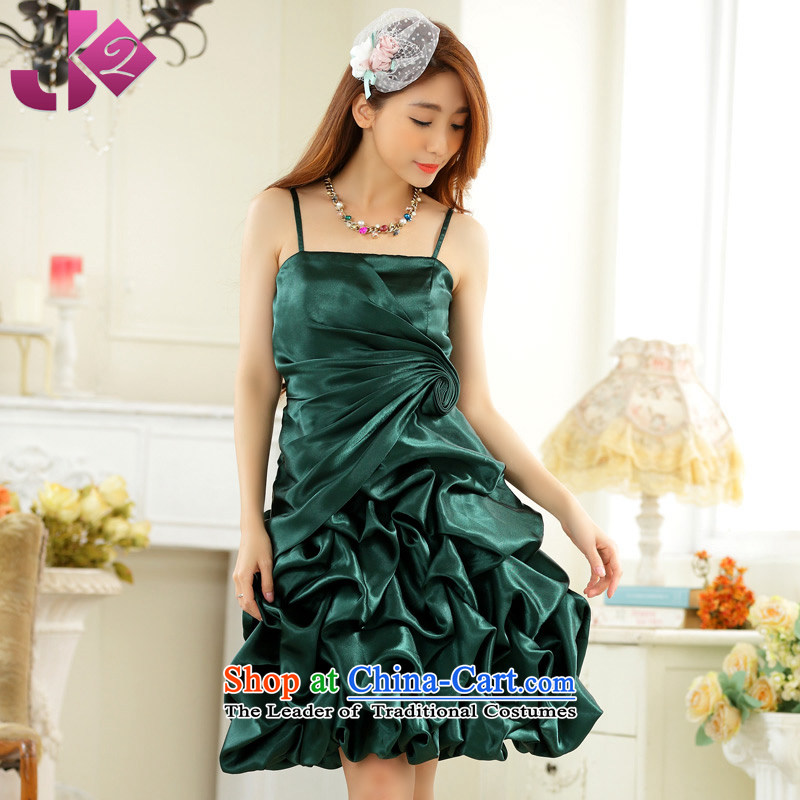 The new 2015 JK2 pure colors of wrinkle lanterns skirt sweet strap under the auspices of short in a small concert dress bridesmaid skirts are green code around 922.747 recommended 100