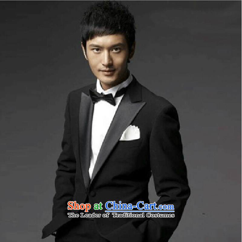 Black suits division scanner moderator Singer Stage men costumes choral services black聽, pure bamboo 185(XXL)180 love yarn , , , shopping on the Internet