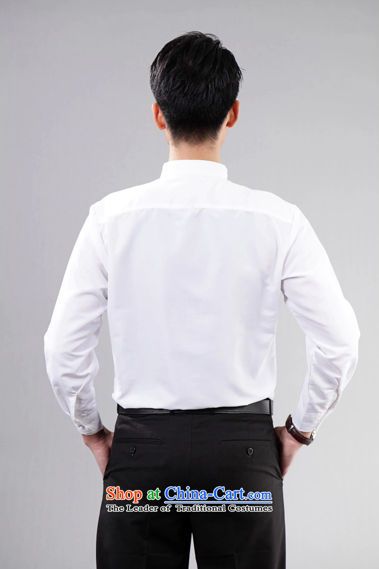 A White Long Sleeved Boys Men Will Bow Shirts And Blouses Stage