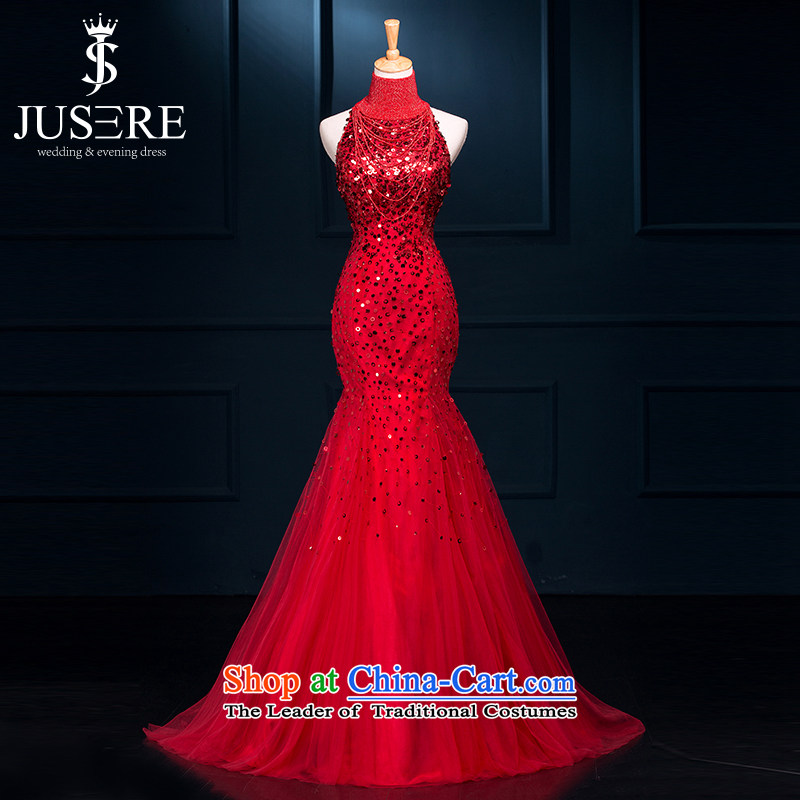 There is a golden thread Bong-wedding dresses 2015 New Champagne Gold aristocratic dress marriages bows services wine red?4